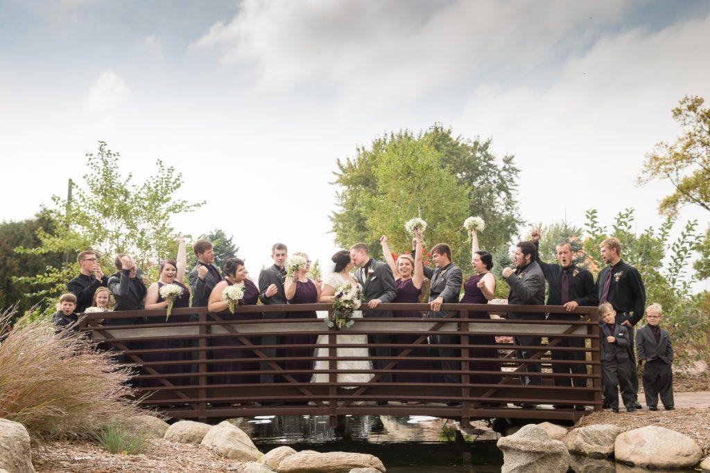 Wedding Party on a Bridge