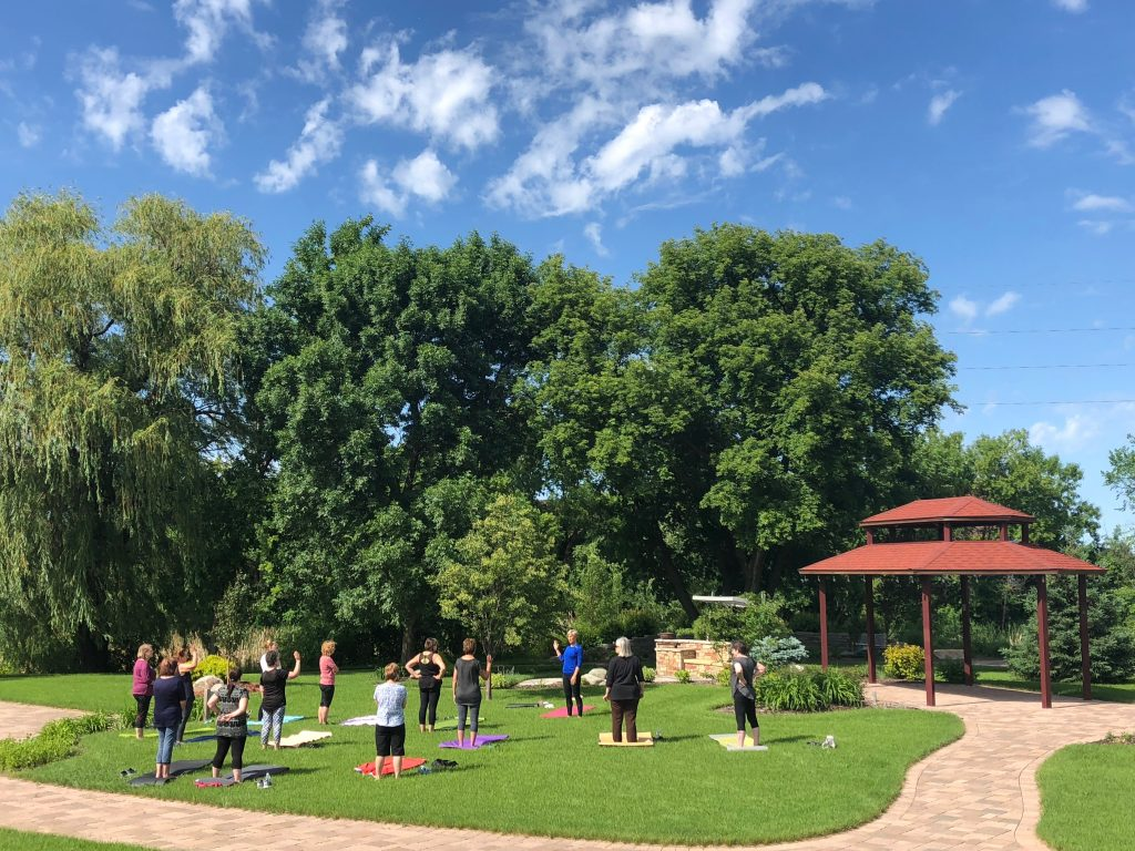 Yoga in the Legacy Gardens